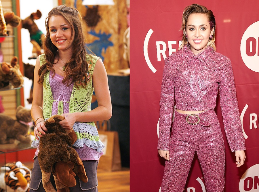 Miley Cyrus, Hannah Montana, Then and Now