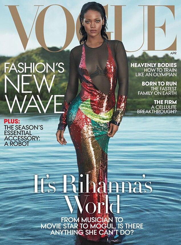 Phenomenal Rihanna Addresses All Those Beyonce Rivalry Rumors E News Short Hairstyles Gunalazisus