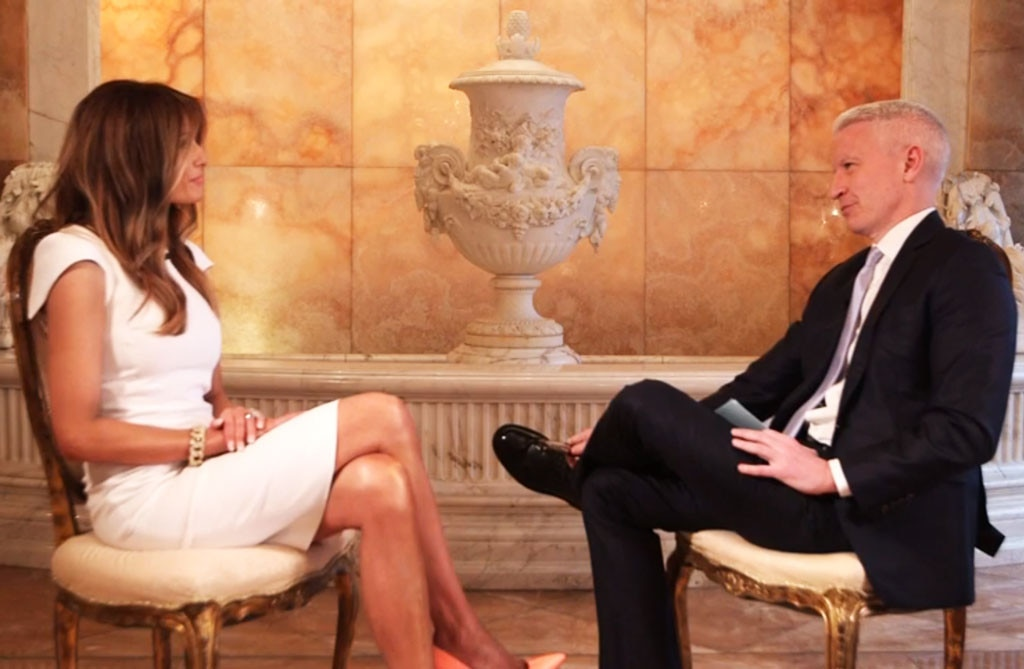 Melania Trump, Anderson Cooper