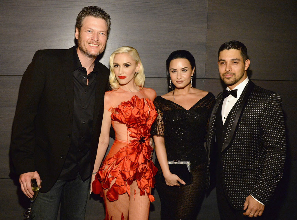 Blake Shelton, Gwen Stefani, Demi Lovato, Wilmer Valderrama, Inside Vanity Fair Oscar Party