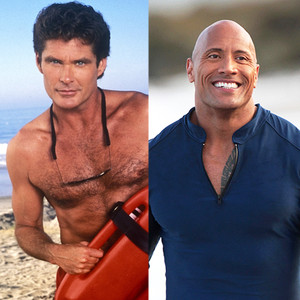 the hoff is back dwayne the rock johnson confirms david hasselhoff is starring in baywatch. Black Bedroom Furniture Sets. Home Design Ideas
