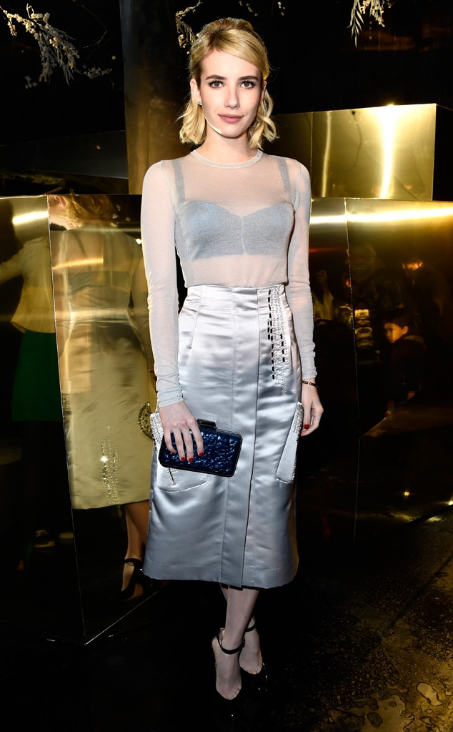 Emma Roberts, Paris Fashion Week Star Sightings