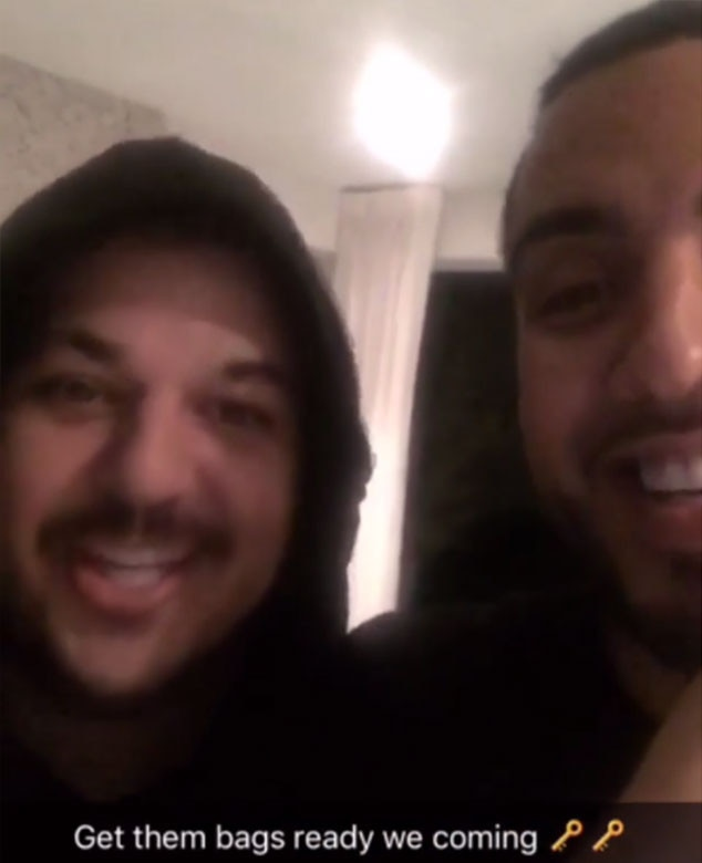 Rob Kardashian, French Montana, Snapchat Video