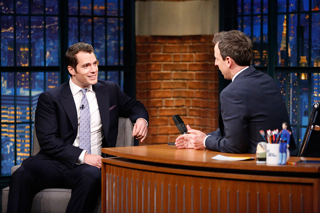 Henry Cavill, Seth Meyers, Late Night