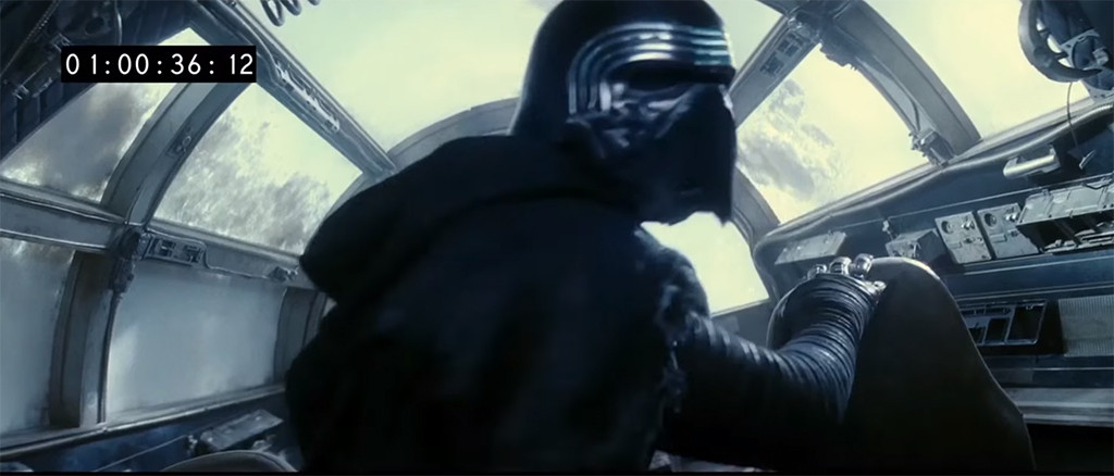 Adam Driver, Kylo Ren, Star Wars: The Force Awakens, Deleted Scene