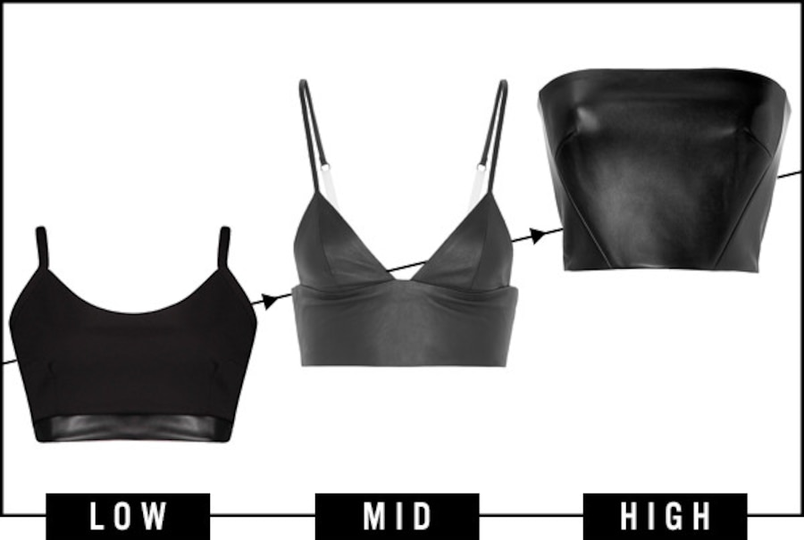 ESC, Dare to Wear Leather Crop Top