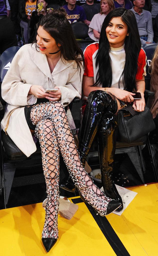 ESC: Courtside Style, Kendall Jenner, Kylie Jenner