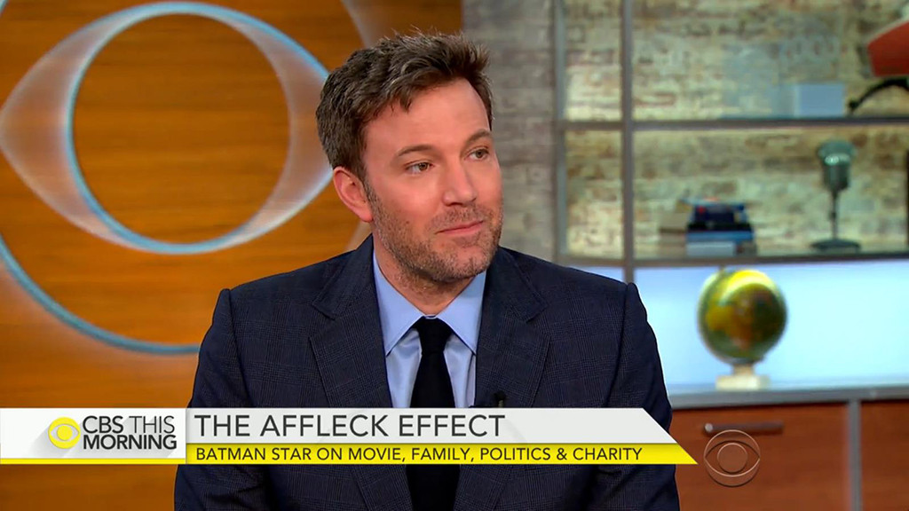 Ben Affleck, CBS This Morning