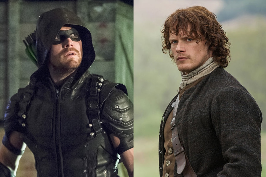 Stephen Amell, Arrow, Sam Heughan, Outlander