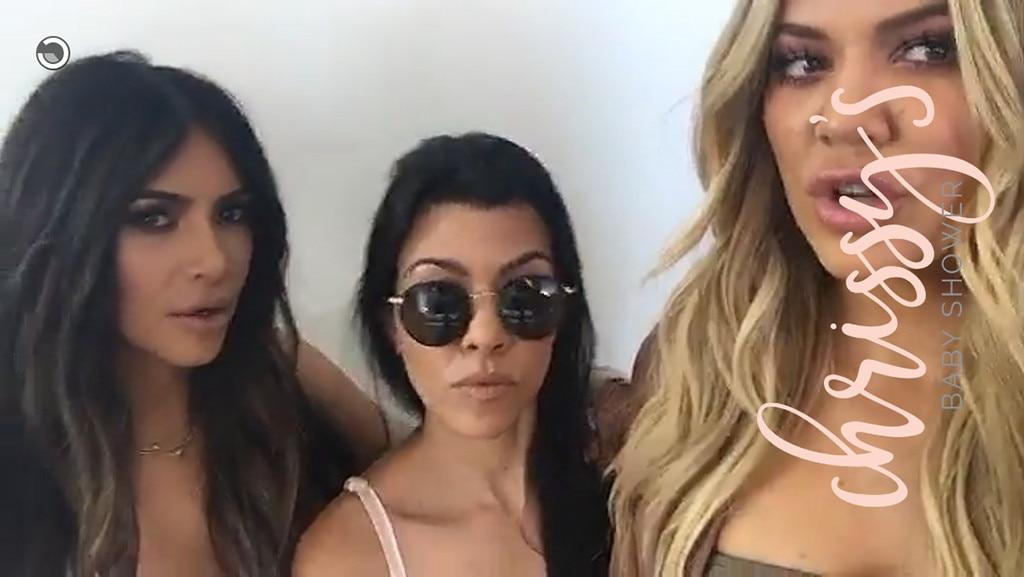 Kim Kardashian, Kourtney Kardashian, Khloe Kardashian, Chrissy Teigen, Baby Shower 2