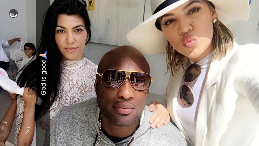 Kourtney Kardashian, Lamar Odom, Khloe Kardashian, Easter