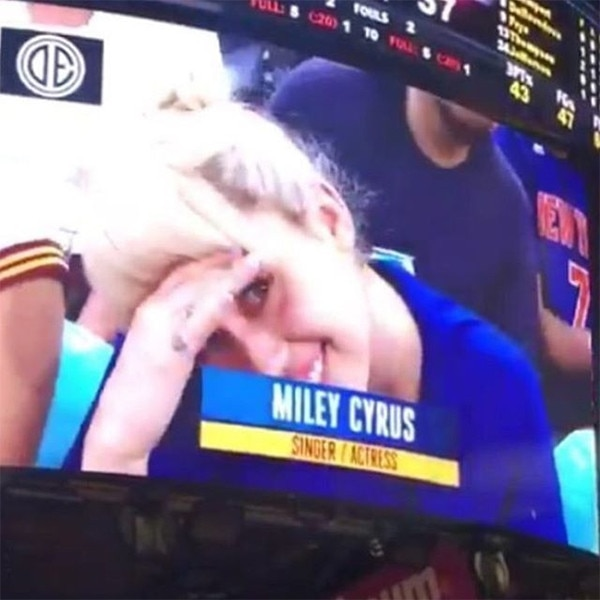 Miley Cyrus, Jumbotron, Madison Square Garden