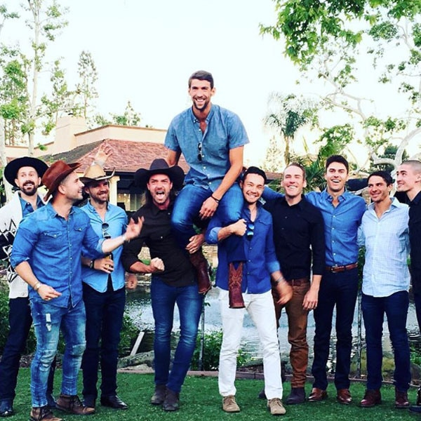 Michael Phelps, Nicole Johnson, Baby Shower, Cowboy