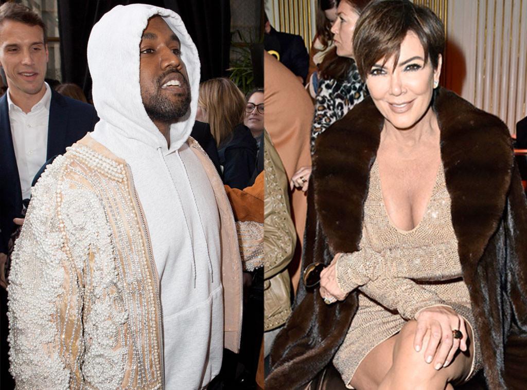Kanye West, Kris Jenner Paris Fashion Week Star Sightings