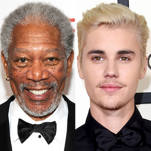 Morgan Freeman, Justin Bieber