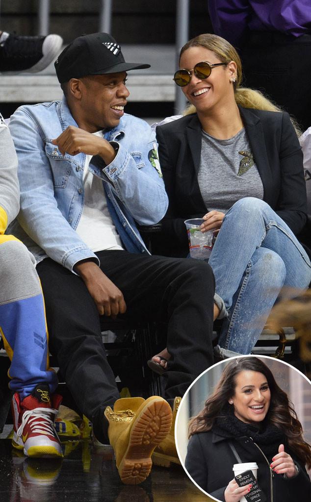 Jay Z, Beyonce, Lea Michele