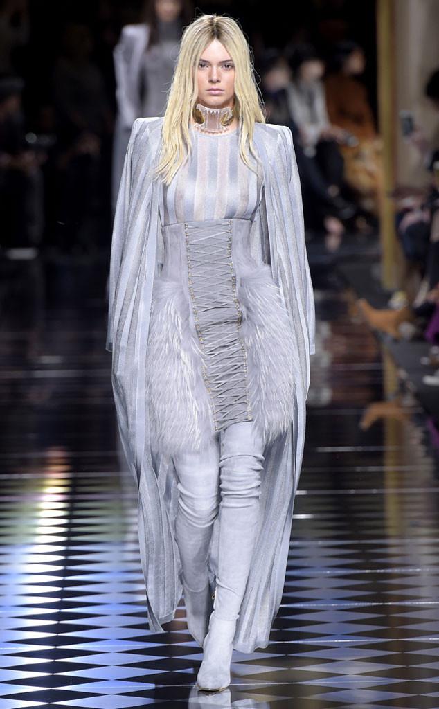 Kendall Jenner, Paris Fashion Week, Balmain