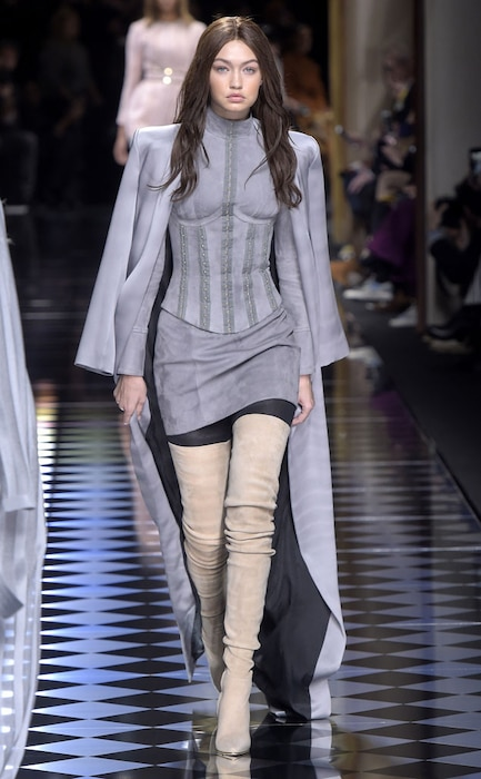 Gigi Hadid, Paris Fashion Week, Balmain