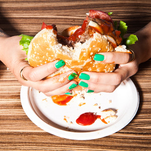 Fast food, Hamburger, Manicure