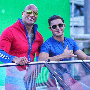 "Zac Efron, Dwayne ""The Rock"" Johnson, Baywatch"