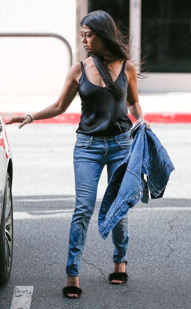 Furry Feet From Kourtney Kardashian S Mommy Style