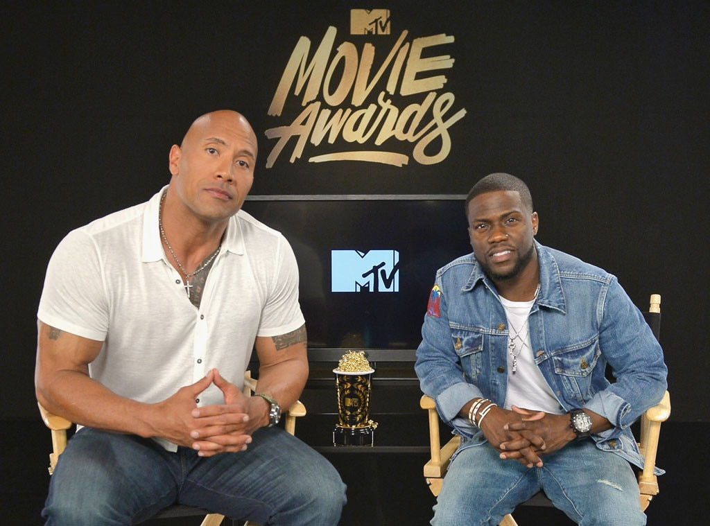 Dwayne Johnson, The Rock, Kevin Hart