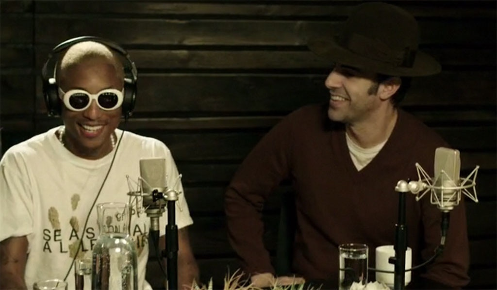 Sacha Baron Cohen, Pharrell Williams, Beats 1 Show