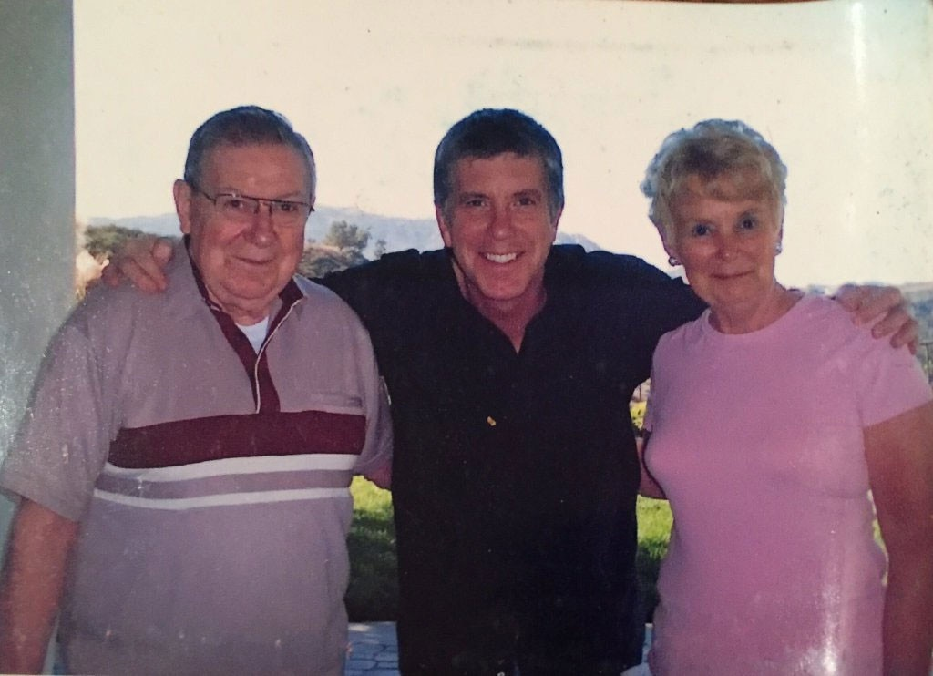 "Tom Bergeron, Parents, Catherine ""Kay"" Bergeron, Raymond ""Ray"" Bergeron"