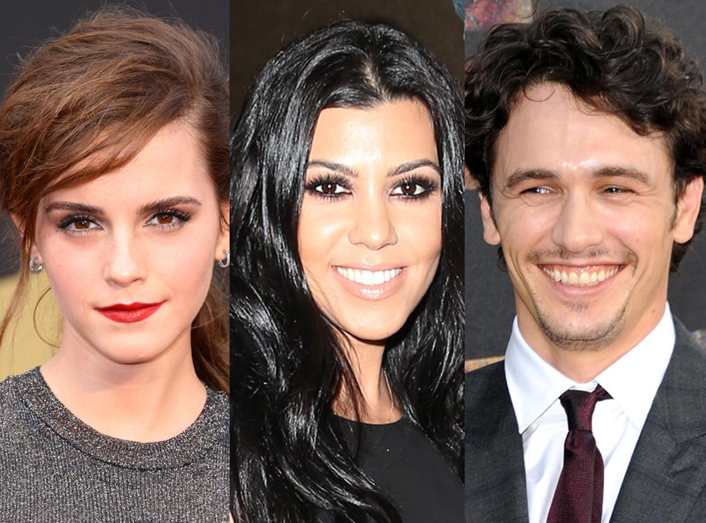 Kourtney Kardashian, James Franco, Emma Watson