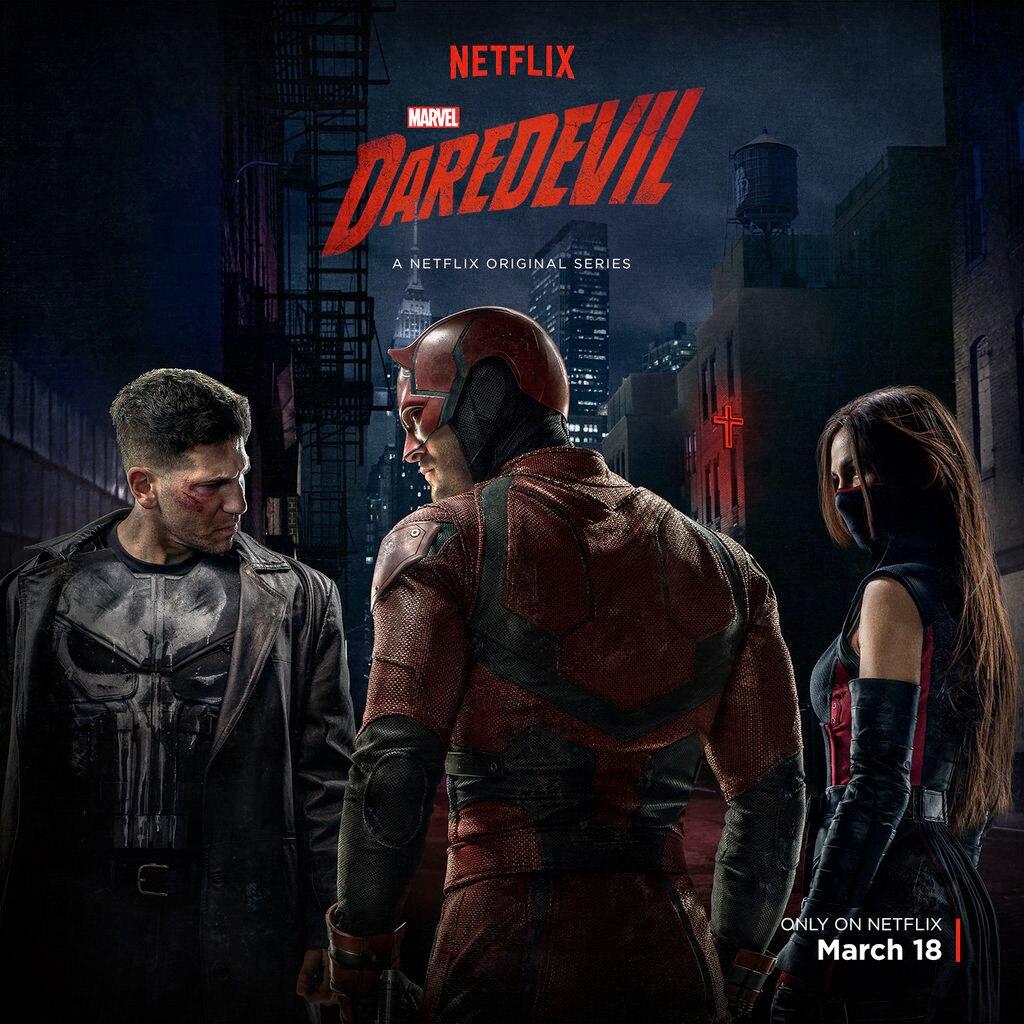 Daredevil, Elektra, Punisher