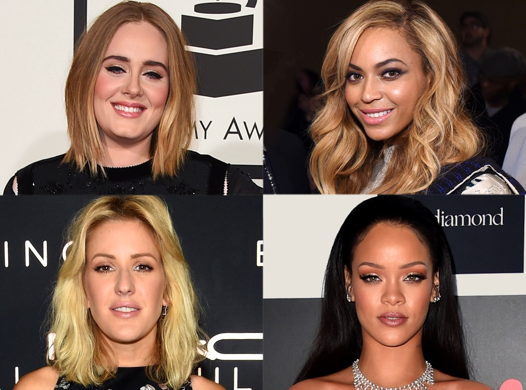 Adele, Beyonce, Ellie Goulding, Rihanna