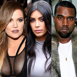 Kim Kardashian, Kanye West, Khloe Kardashian