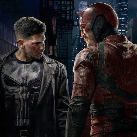 Daredevil Debuts Elektra And Punisher Costumes Where Do