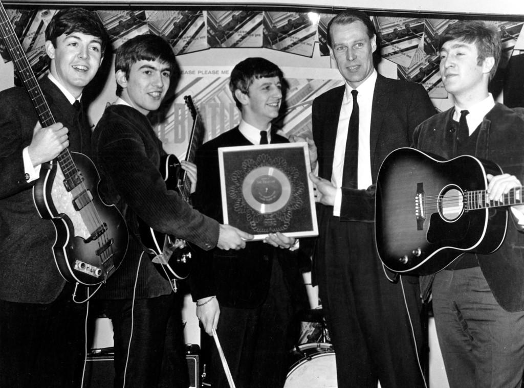Paul McCartney, George Harrison, Ringo Starr, George Martin, John Lennon, Beatles