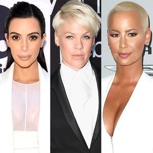Kim Kardashian, Pink, Amber Rose