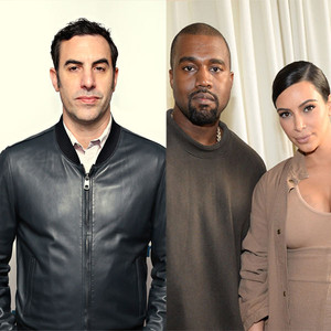 Sacha Baron Cohen, Kanye West, Kim Kardashian