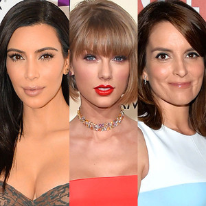 Kim Kardashian, Taylor Swift, Tina Fey