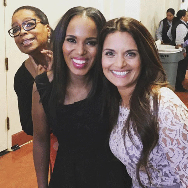 Oprah Winfrey, Kerry Washington, Photobomb