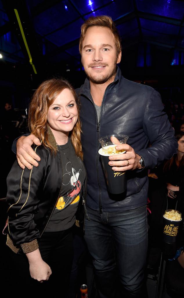 Amy Poehler, Chris Pratt, MTV Movies Awards 2016, Backstage And Audience