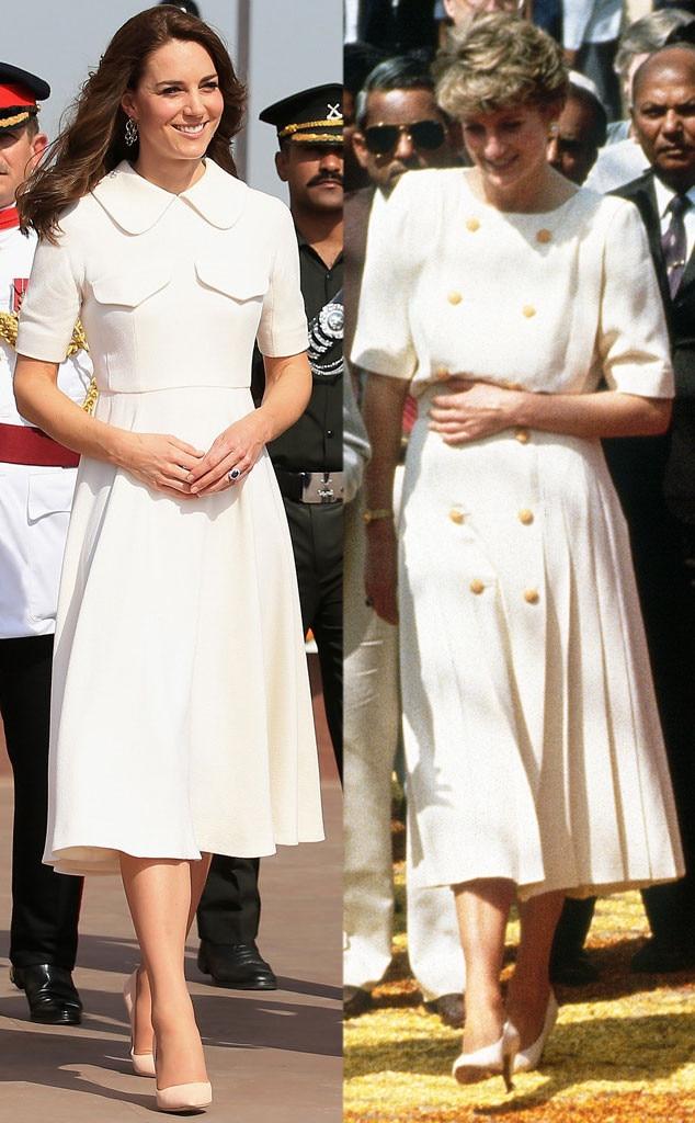 Kate Middleton, Princess Diana, India Fashion Comparison