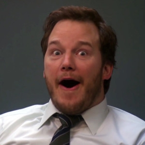 Chris Pratt, Parks and Rec, Shocked face