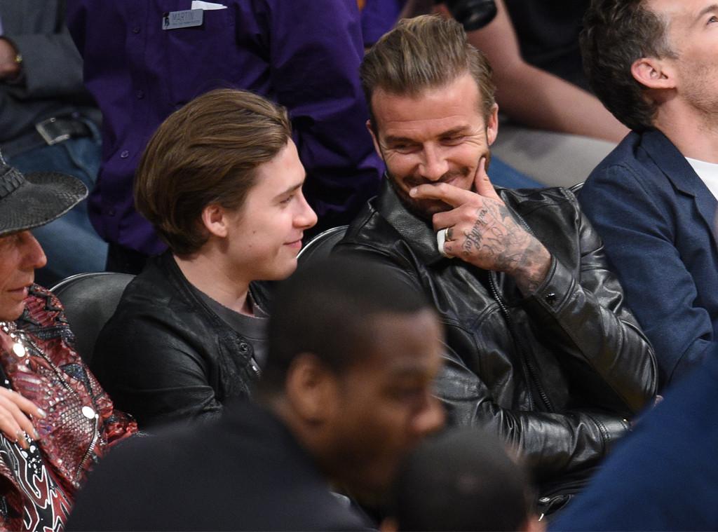 David Beckham, Brooklyn Beckham, Laker Game
