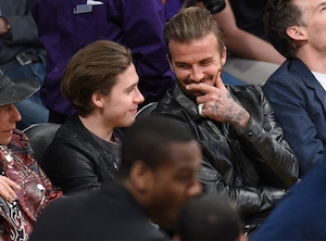 David Beckham, Brooklyn Beckham, Laker Game