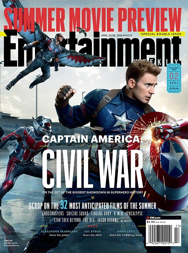 Entertainment Weekly's 4 Captain America: Civil War Covers ...