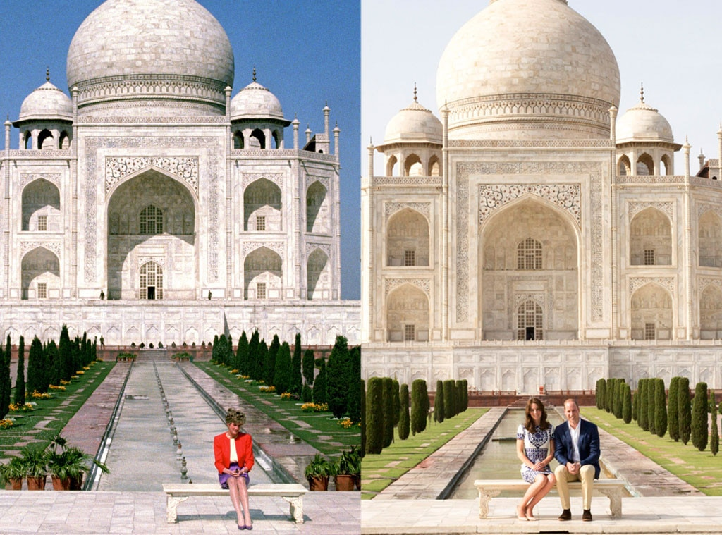 Princess Diana, Prince William, Kate Middleton, Taj Mahal