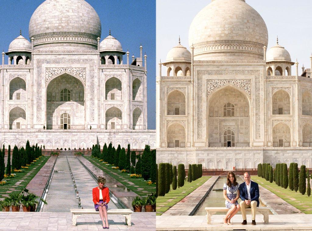 Princess Diana, Prince William, Kate Middleton, Taj Mahal
