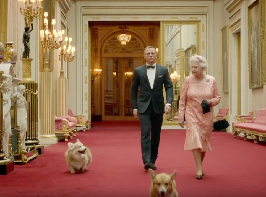 Daniel Craig, Queen Elizabeth II, Corgis