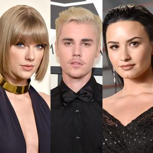 Taylor Swift, Justin Bieber, Demi Lovato