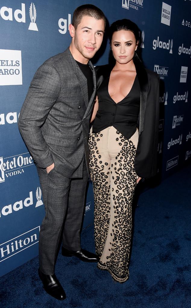 Nick Jonas, Demi Lovato, GLAAD Media Awards