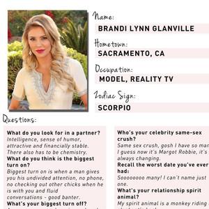 Brandi Glanville, Famously Single Dating Profile